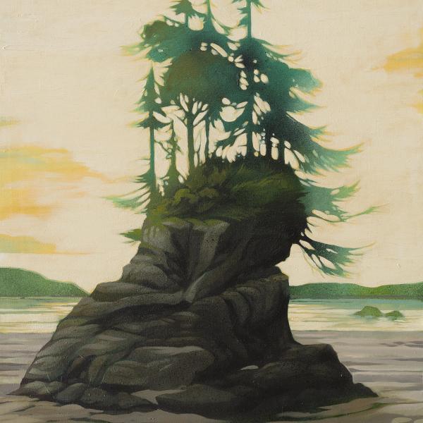 Bamfield pillar painting