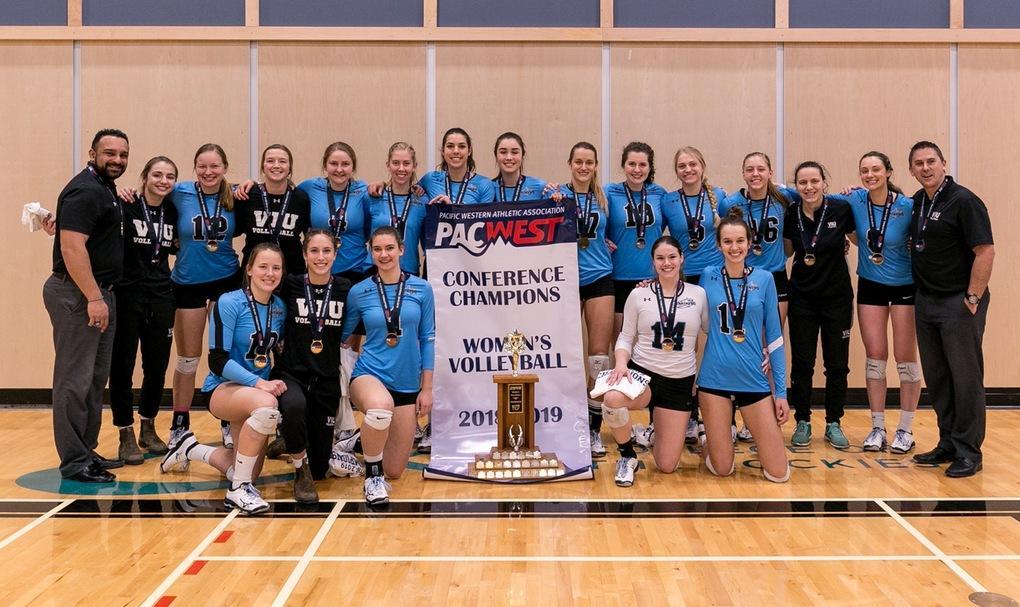 VIU Mariners Womens Volleyball team