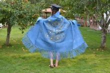 Chyanne with her grad cap and shawl