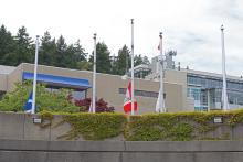 Flags lowered to half mast at ViU Nanaimo campus