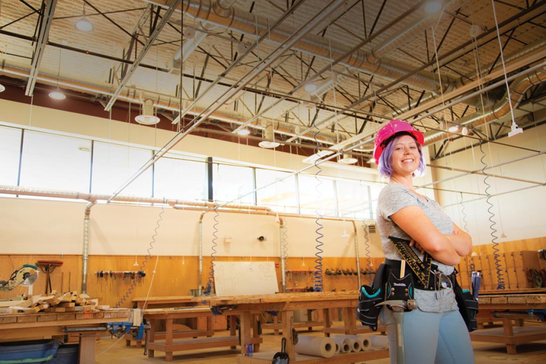 Jennifer Barton, VIU Carpentry student