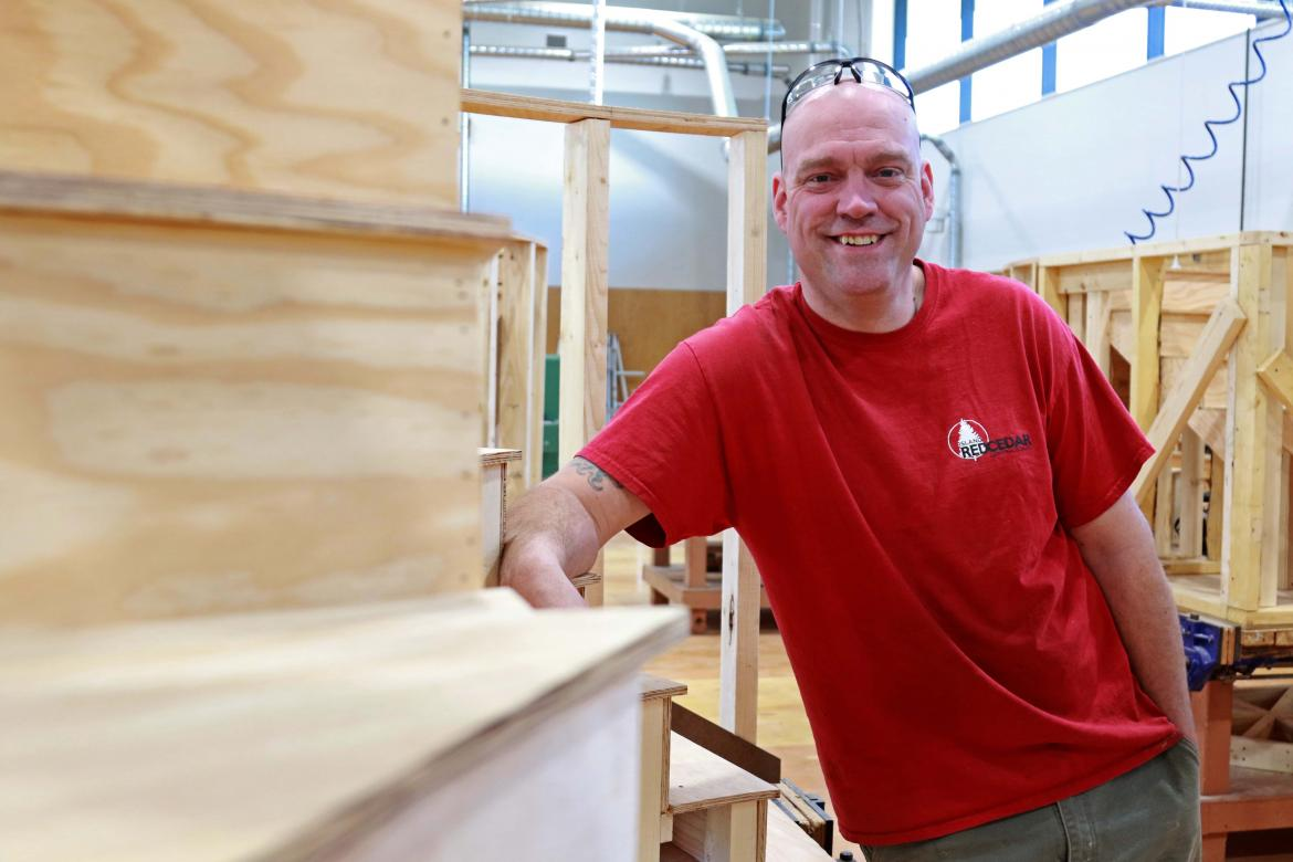 Carpentry shop in VIU Trades Discovery Centre