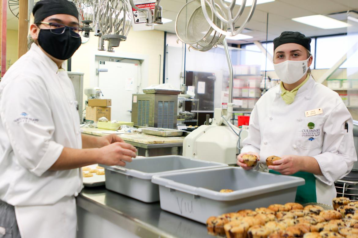 VIU Culinary Arts program donates surplus food to Salvation Army