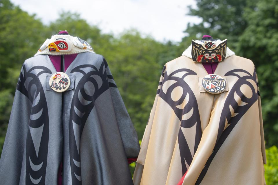 Robes for the President and Chancellor designed by Ay Lelum