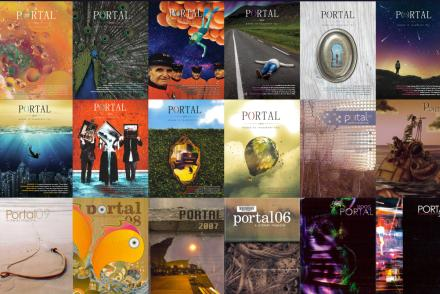 Cover images from past Portal magazines