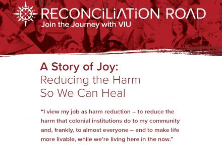 Image of Jesse Wente on Reconciliation Road branding