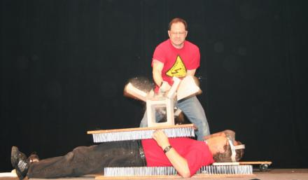 Extreme Science bed of nails experiment